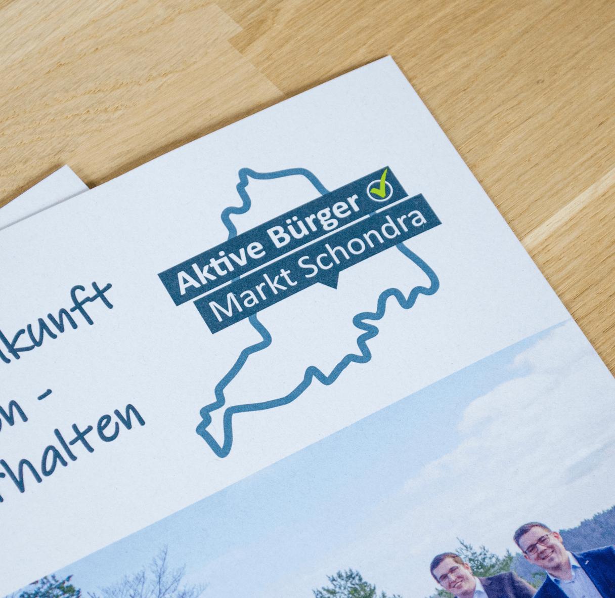 Faltblatt Aktive Bürger Markt Schondra
