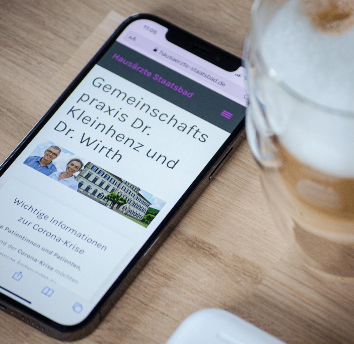 mobile Website Hausärzte Staatsbad